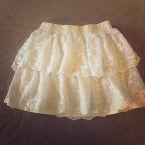 Cute Tiered Lace Skirt